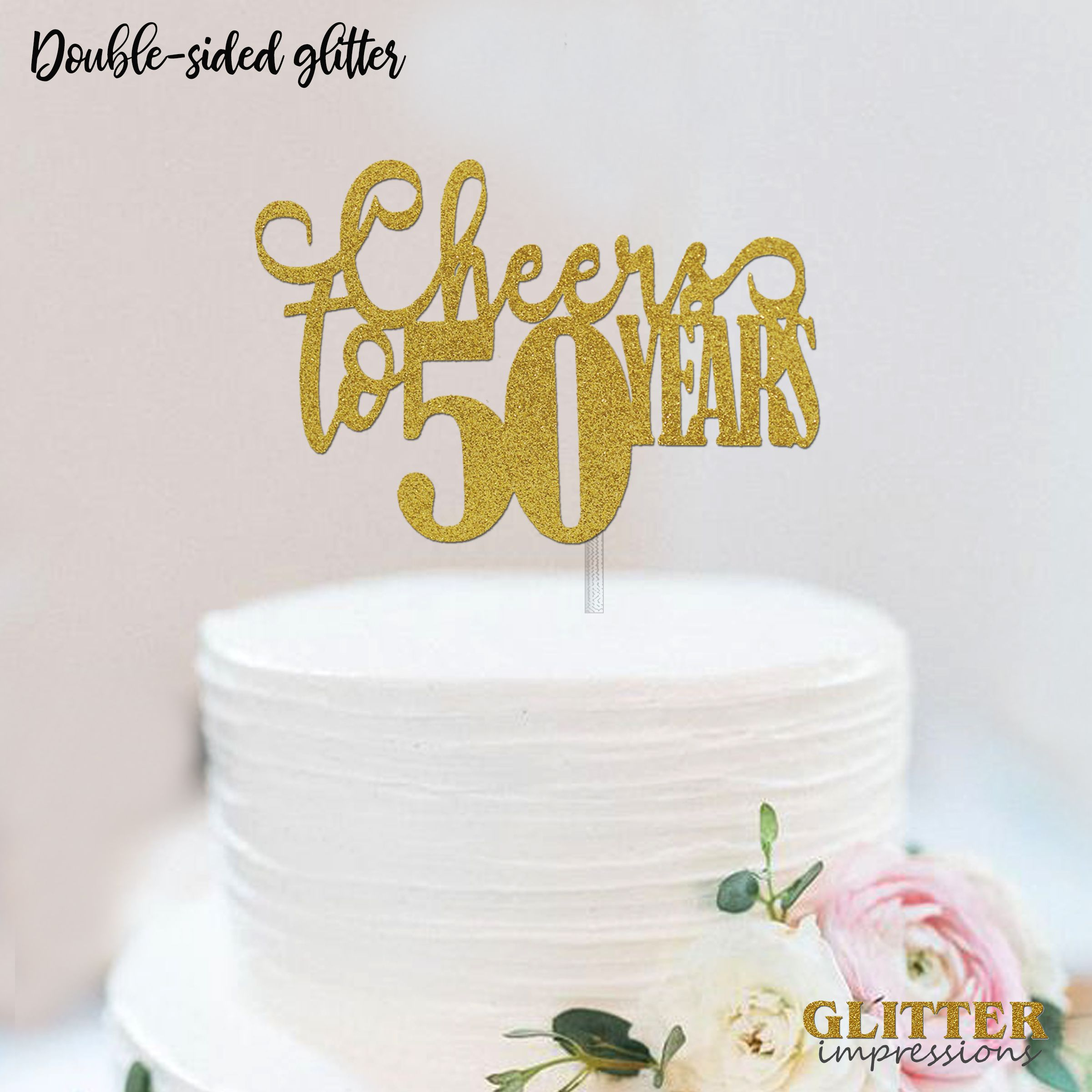 Super Cheers To 50 Years Cake Topper 50Th Birthday Cake Topper 50Th Funny Birthday Cards Online Fluifree Goldxyz