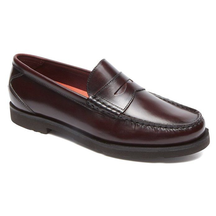 Rockport Men's Modern Prep Penny Burgundy 9.5 M Price: $110.00 Sale Price:  $80.39