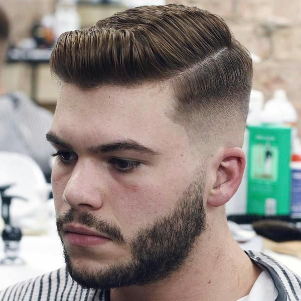 Hard Part Haircut Style