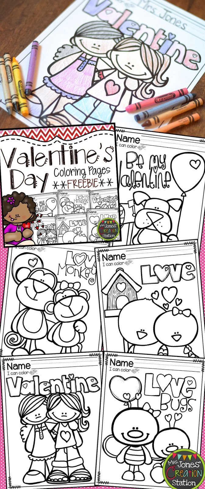 Valentine\'s Day Coloring Pages {FREEBIE | Pre-school, February and ...