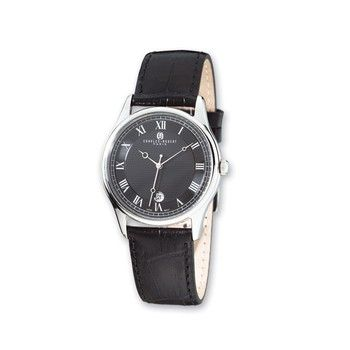 Ladies Charles Hubert Stainless Steel Leather Band 29mm Watch