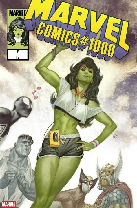 See a Gallery of 15 Variant Covers for 'Marvel Comics' #1000 #comicbooks