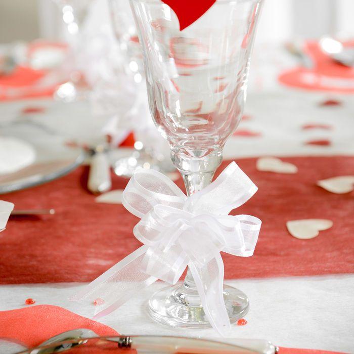 Hochzeit Schleife White Red Organza Decoration Inspiration