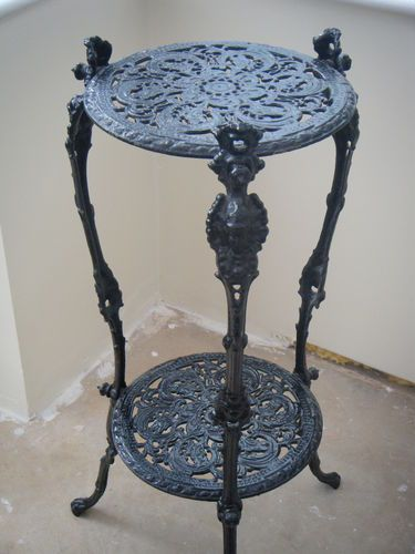 Vintage Cast Iron Plant Stand Ebay Iron Plant Stand Wrought