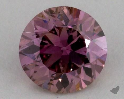0.88 Carat fancy brownish purplish pink-SI1 Round Cut Diamond