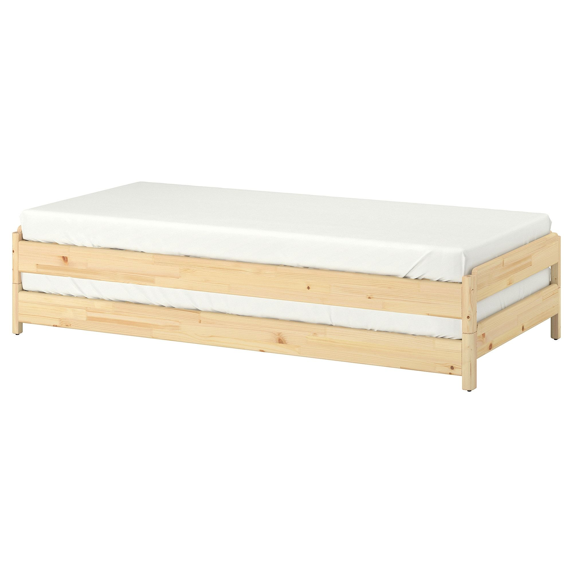 Ikea Utaker Pine Minnesund Stackable Bed With 2 Mattresses In 2020 Ikea Ikea Bed Mattress