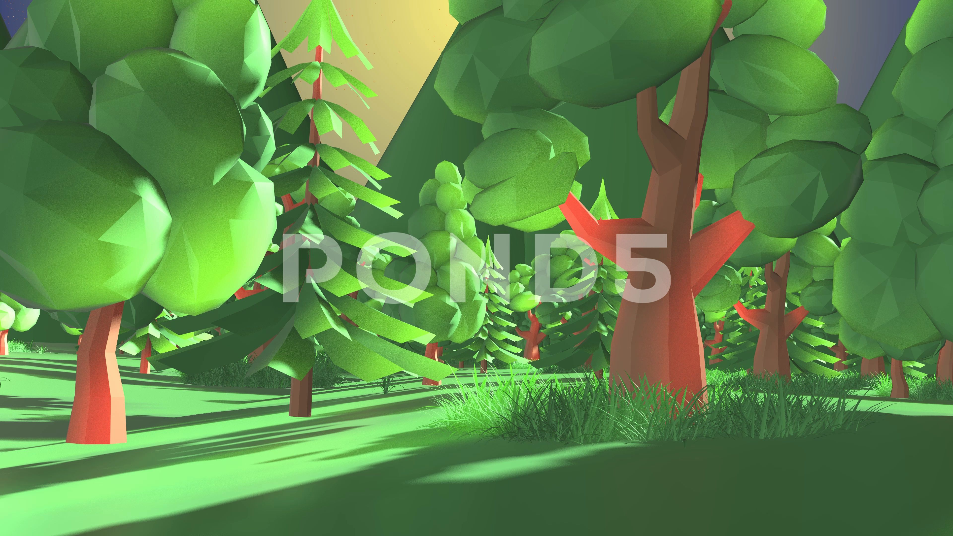 Beautiful Nature Low Poly Landscape Of Trees And Grass In Valley Cartoon Stock Footage Ad Landscape Trees Poly Be Beautiful Nature Landscape Trees Landscape