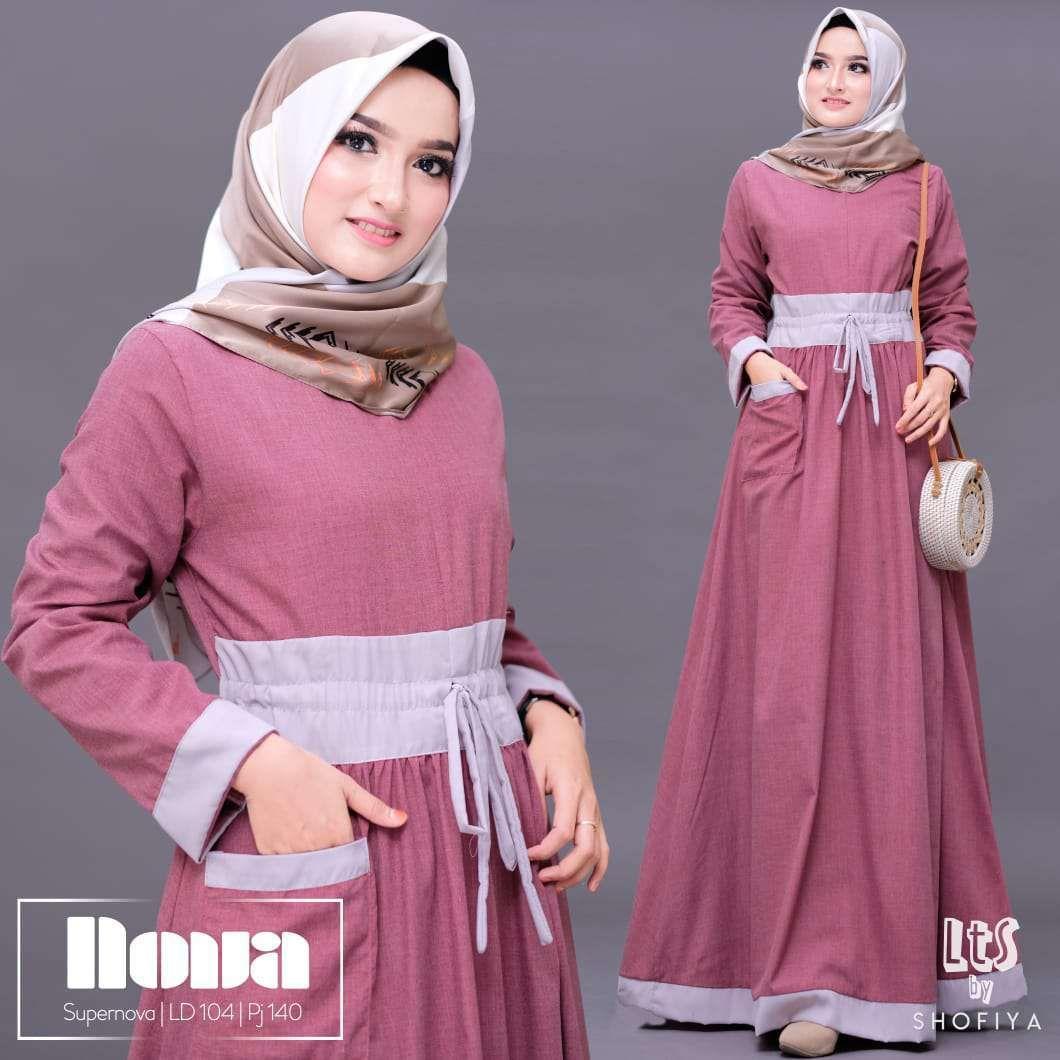 Model Gamis Polos 11 Warna Terbaru  Kemeja wanita, Baju muslim, Model