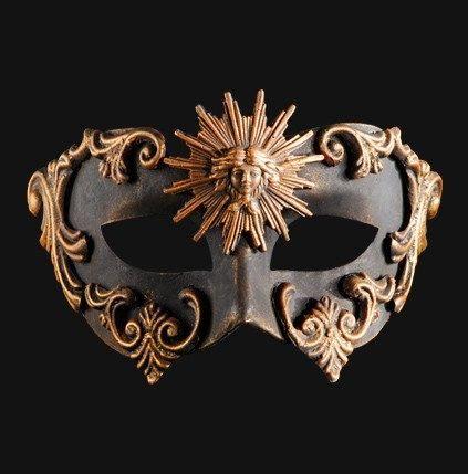 artsy colombina barocco sole bronze masquerade mask