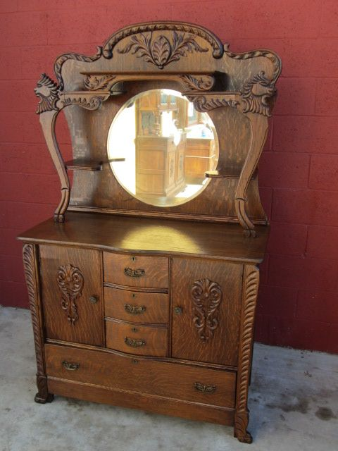 American Antique Sideboard Server Buffet Antique Furniture...........LOVE  THIS !!