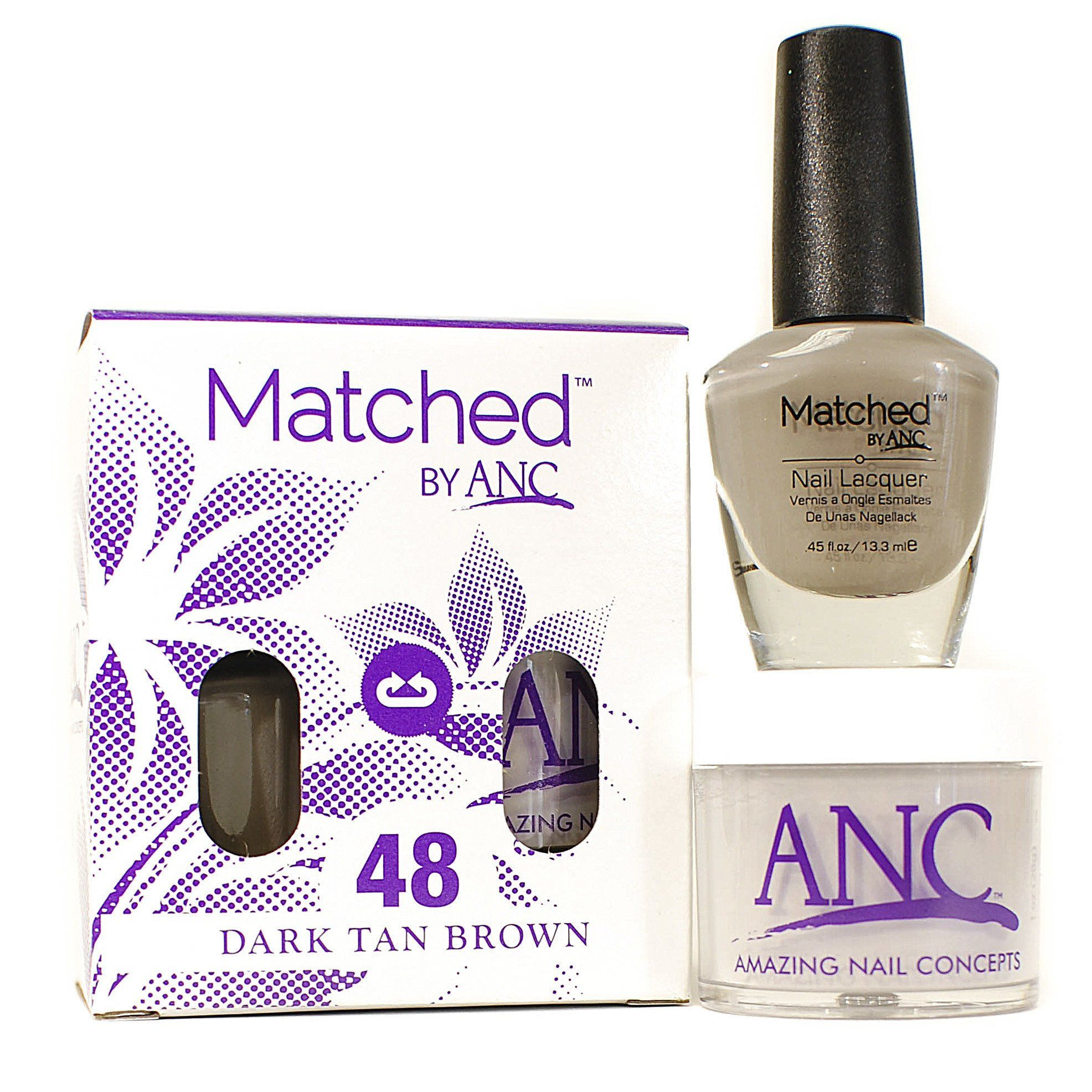 ANC m48 Amazing Nail Concepts Matched kit # 48 Dark Tan Brown ...