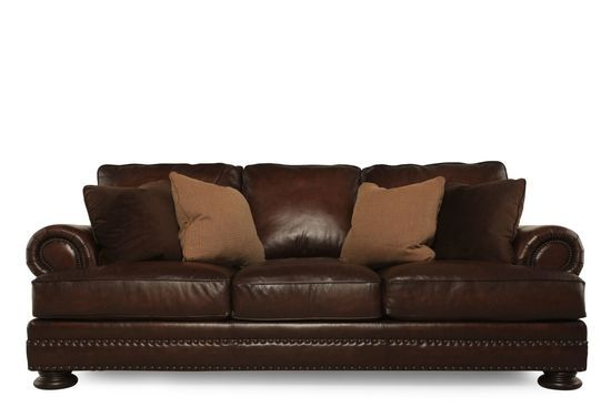 Bernhardt Foster Leather Sofa