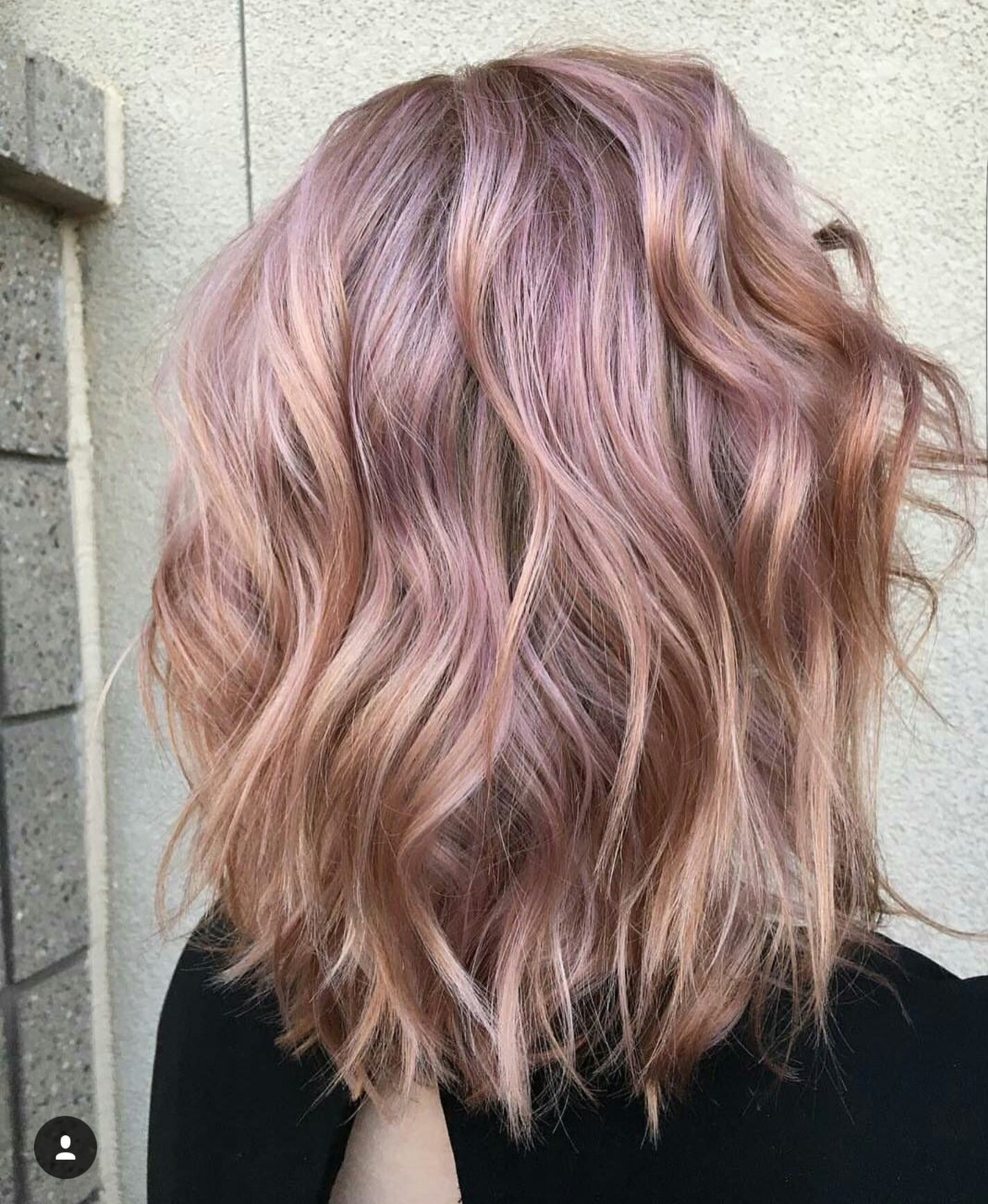 Metallic Rose gold | Hair and Beauty in 2019 | Hair, Gold ...