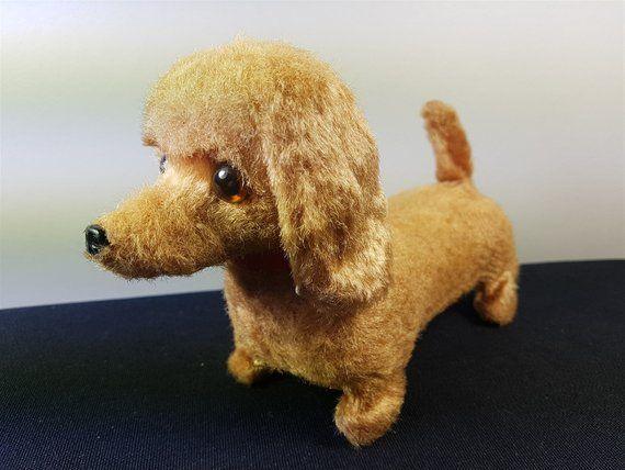 Vintage Daschund Dog Battery Operated Toy Animal Moves Working