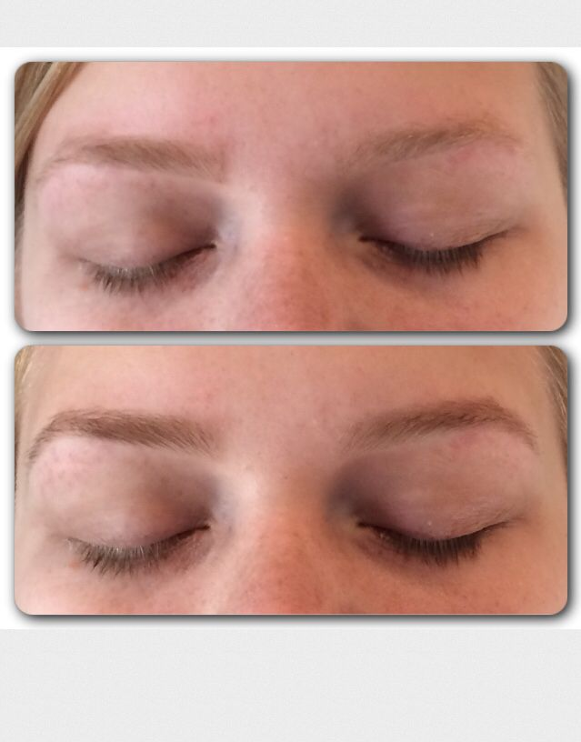 Before and After Eyebrow Tint. www.beautybytaylor.com