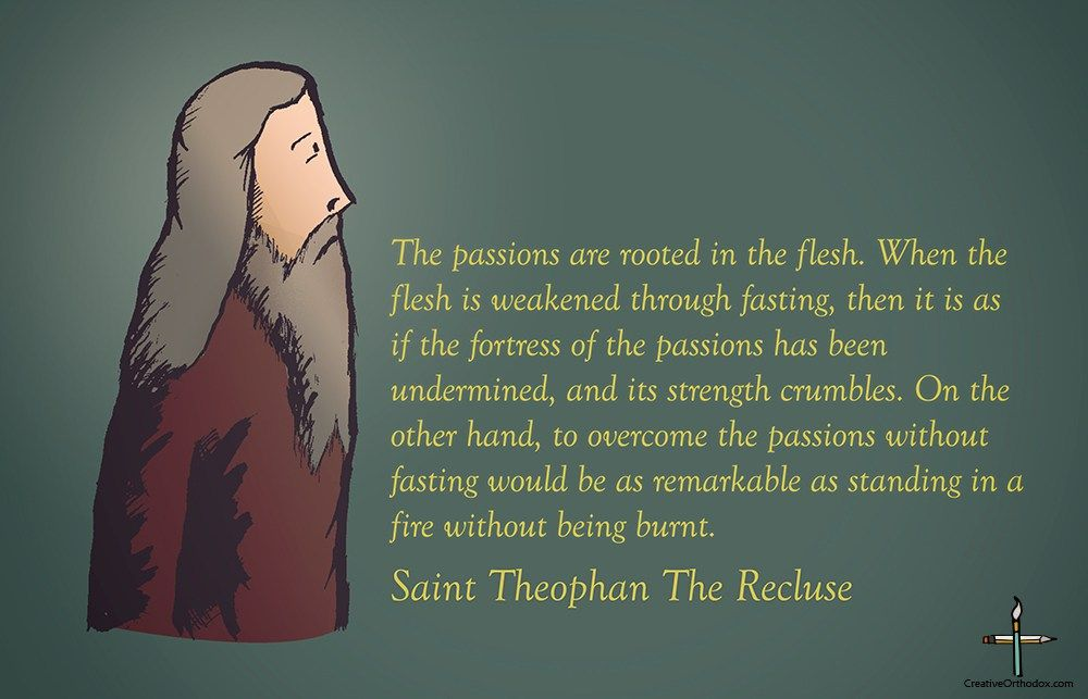 Saint Theophan the recluse on fasting