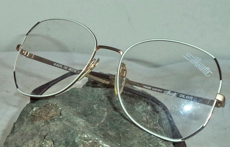 Silhouette NEW Eyeglasses Round Oversized Gold Wire Rim Art Deco ...