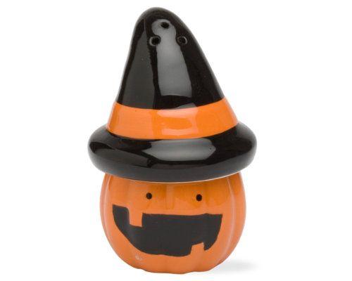 Halloween pumpkin salt & pepper shakers