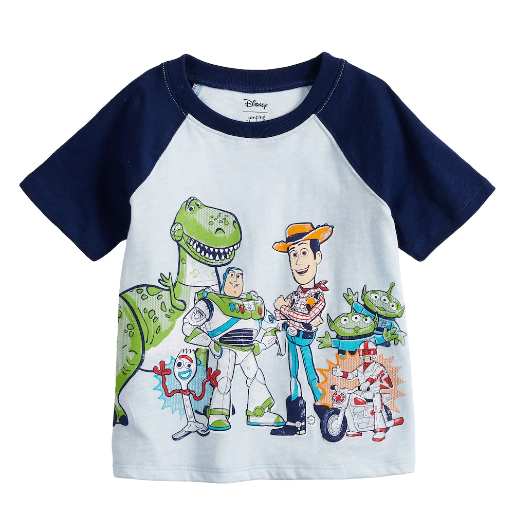956be7488 Disney / Pixar Toy Story 4 Baby Boy Raglan Graphic Tee by Jumping Beans®,