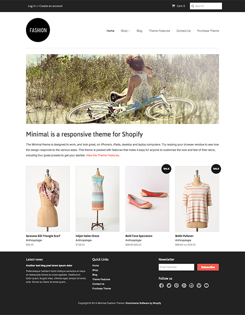 shopify theme store includes over 100 free and premium professionally designed ecommerce website templates that you can use for your own online store