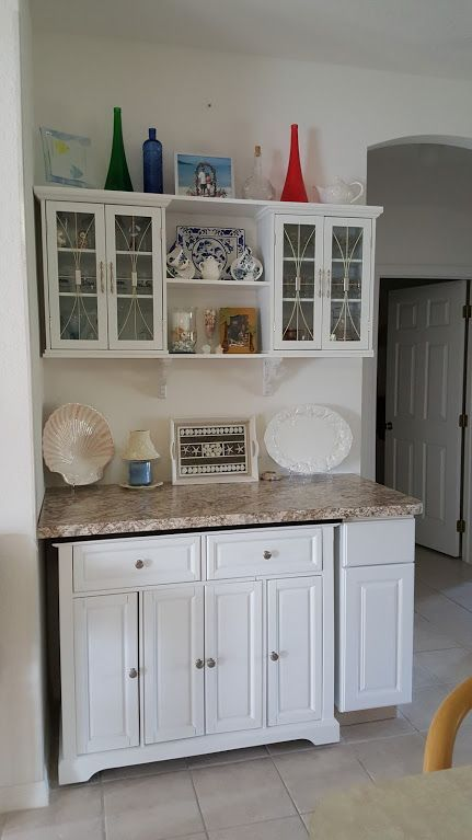 Finished Project Island Cart From Big Lots Upper Cabinets From