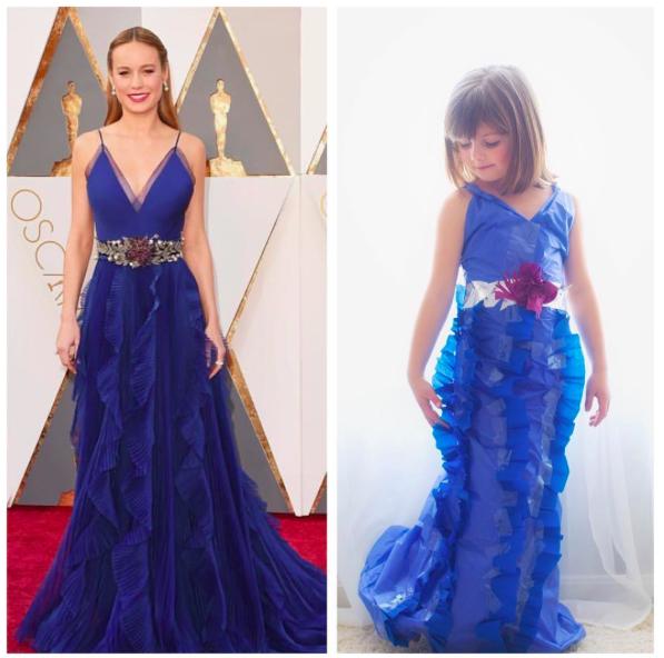 Sechsjährige bastelt Oscar-Kleider aus Papier nach – und sie sehen unglaublich aus