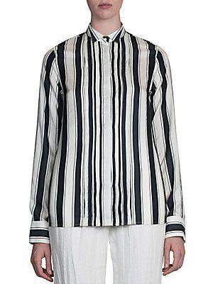 Haider Ackermann Striped Button Front Blouse