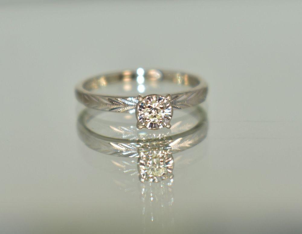 Melrose 10 K White Gold 04 Ct Tcw White Diamond Solitaire Engagement Ring 3 1 2 Diamond Solitaire Engagement Ring White Gold Engagement Rings Engagement Rings
