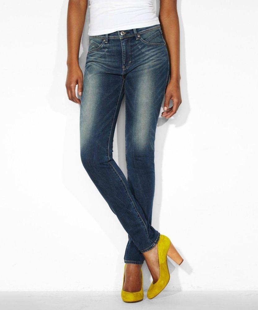 New Levi 039 S Revel Demi Mid Rise Skinny Leg Stretch Jeans W24