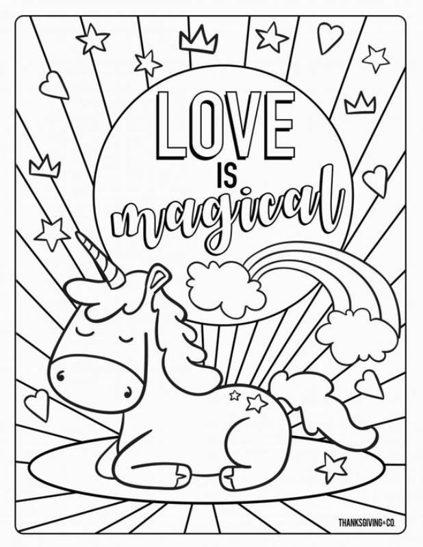 Crayola Coloring Pages Printable Valentine Brilliant Page In 2020 Malvorlage Einhorn Bilder Zum Ausmalen Fur Kinder Malvorlagen Fur Jungen