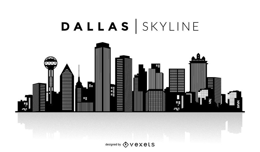 Dallas Skyline Silhouette Design You Can See The Most Important Buildings And It Also Says Dallas Skyline Ov In 2020 Dallas Skyline Skyline Silhouette City Silhouette