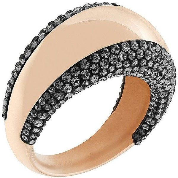 7b737f2b0898e Swarovski Pebble -Tone & Crystal Ring (2.062.980 IDR) ❤ liked on ...