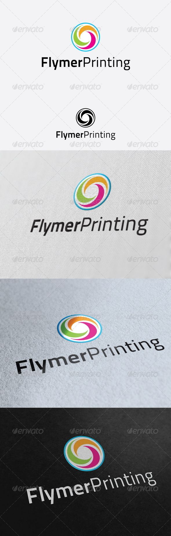Flymer Printing Logo Template GraphicRiver Re sizable