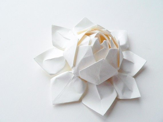 Handmade Paper Flower Origami Lotus Flower All By Fishandlotus