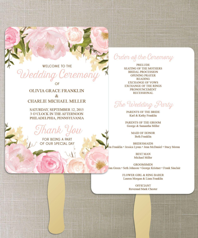 Wedding fan program template wedding fan program wedding fan
