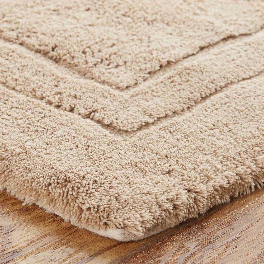 Slip Resistant Latex Barley Cotton Bath Rug With Non Skid Backing 30 X 50 Inches