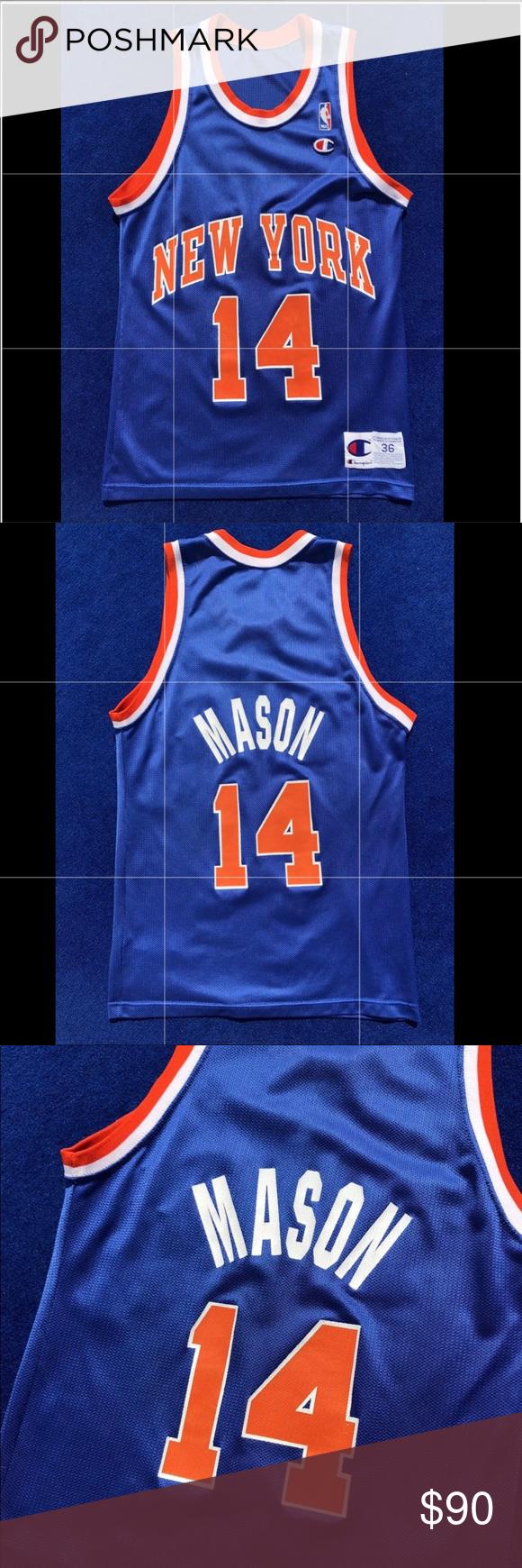 buy popular 88abe 79936 Vintage New York Knicks Anthony Mason Jersey 90s Vintage New ...
