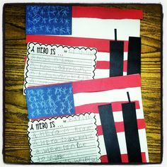 9/11 freebie and flag craft. May we never forget.