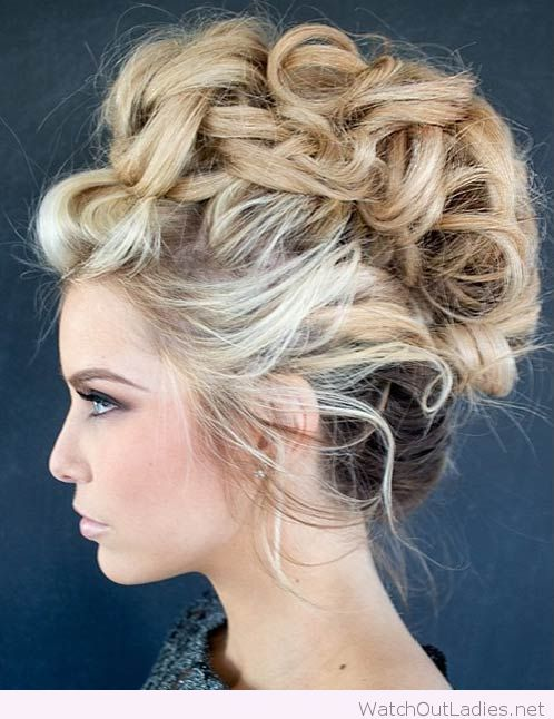 awesome faux hawk updo hair