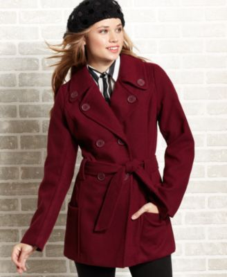 "Jou Jou Juniors Coat, Wool-Blend Belted Pea Coat | ""My ..."