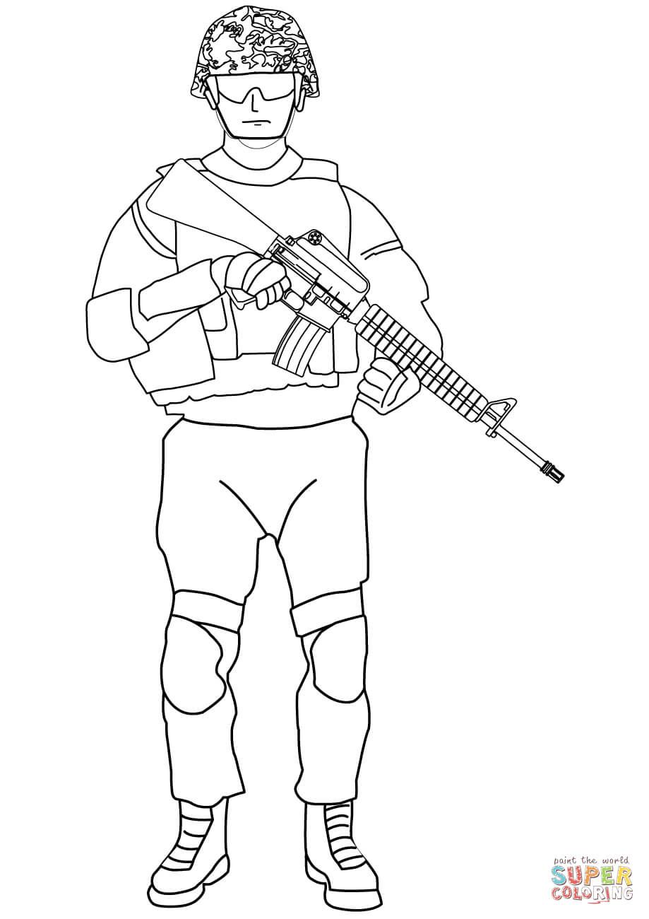 24 Military Soldier Coloring Pages Free For Kids Veterans Day