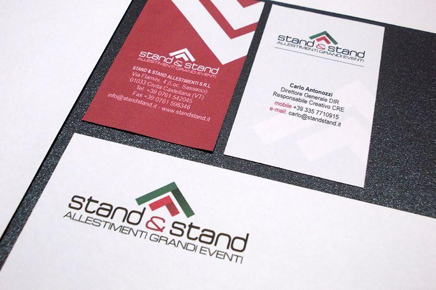 Creare e Comunicare | web agency Roma - Brand identity Stand & Stand | Art Director e grafici impegnati nel nuovo marchio logo
