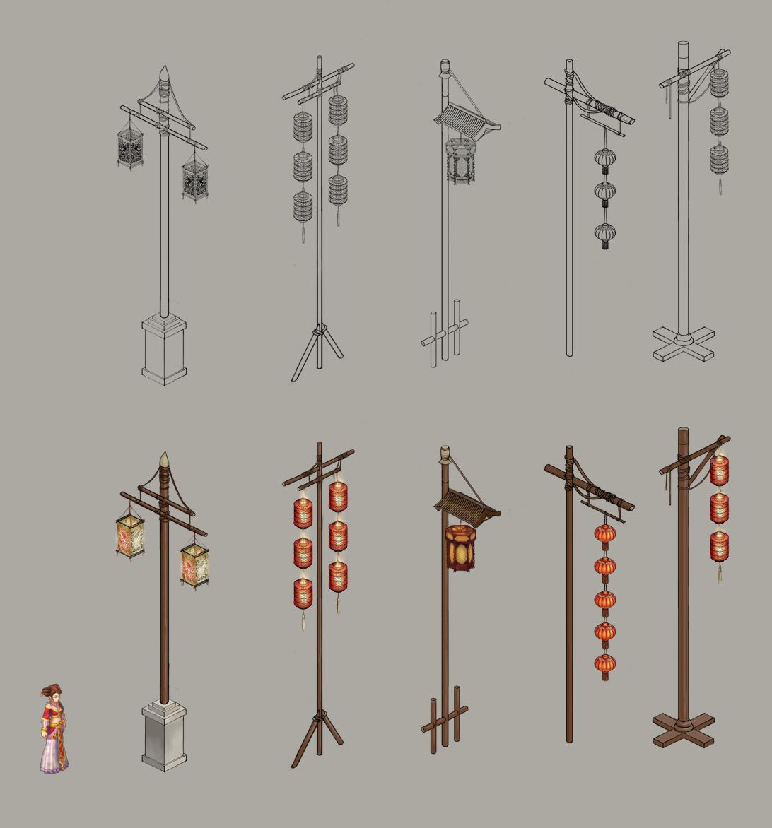 Ancient Chinese Lanterns Street Lights Chinese Architecture Ancient Chinese Architecture Japanese Architecture