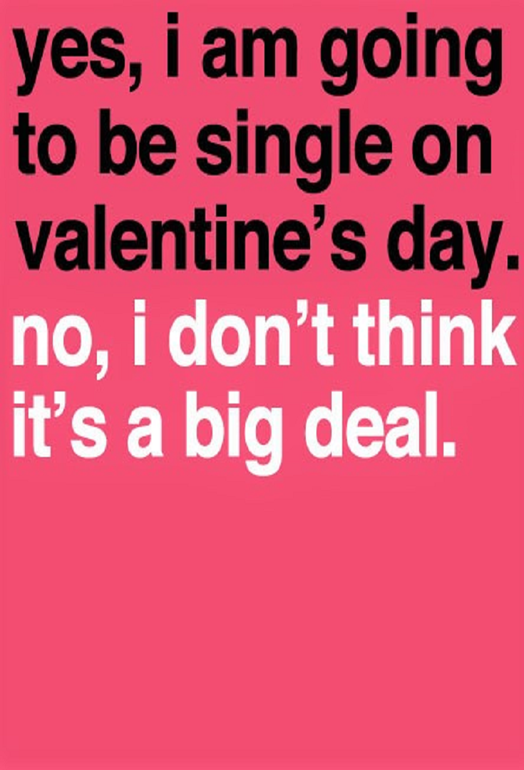 Single On Valentines Day Quotes 9 Valentine's Day Quotes For Singles  General Quotes
