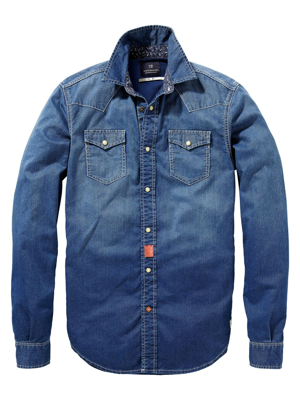 c25411d462 Camisa western con slim fit