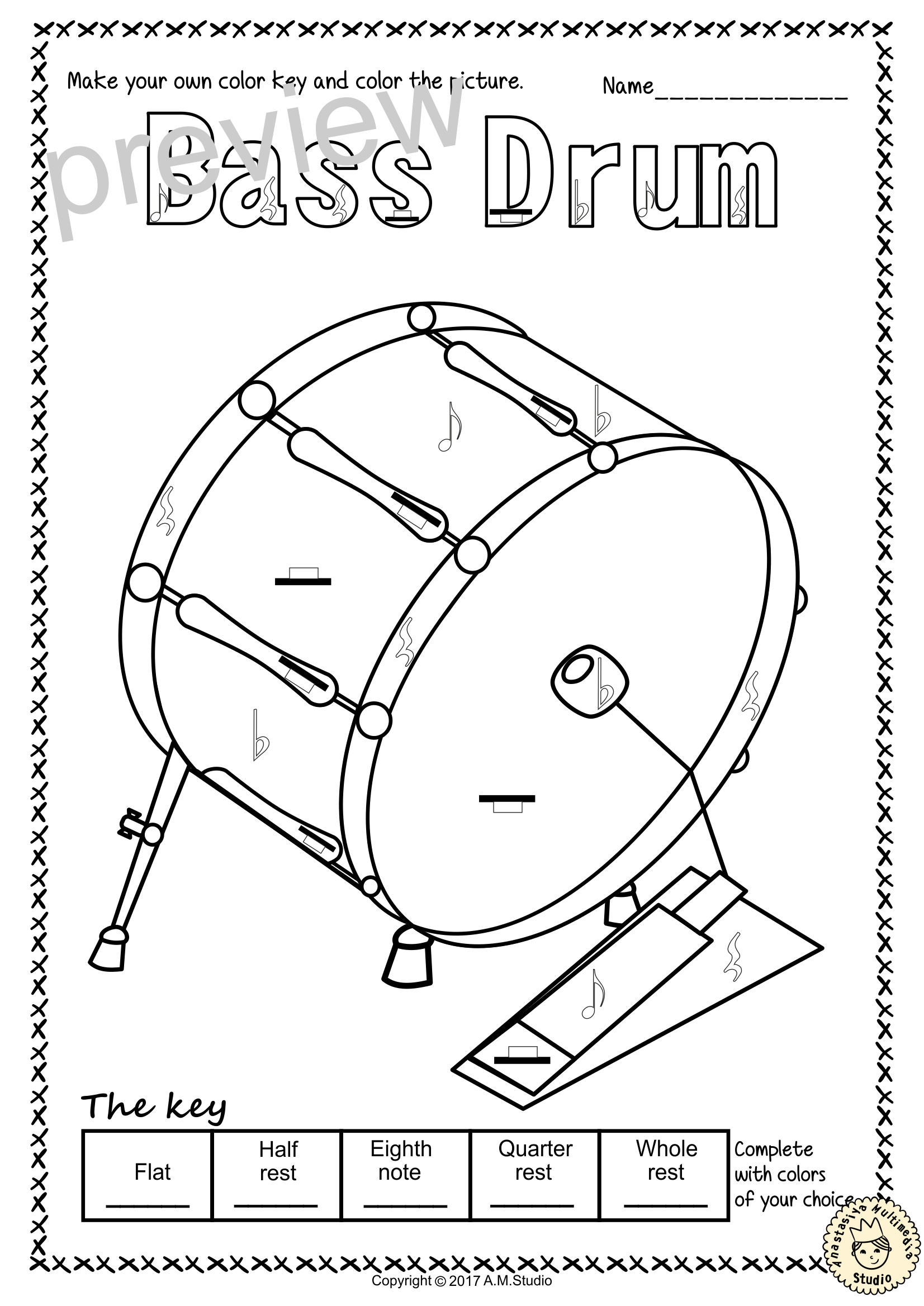 This Set Contains 16 Images Of Percussion Instruments Bass Drum Chime Tree Cymbals Castanets Gong Glocke Percussion Instruments Percussion Glockenspiel