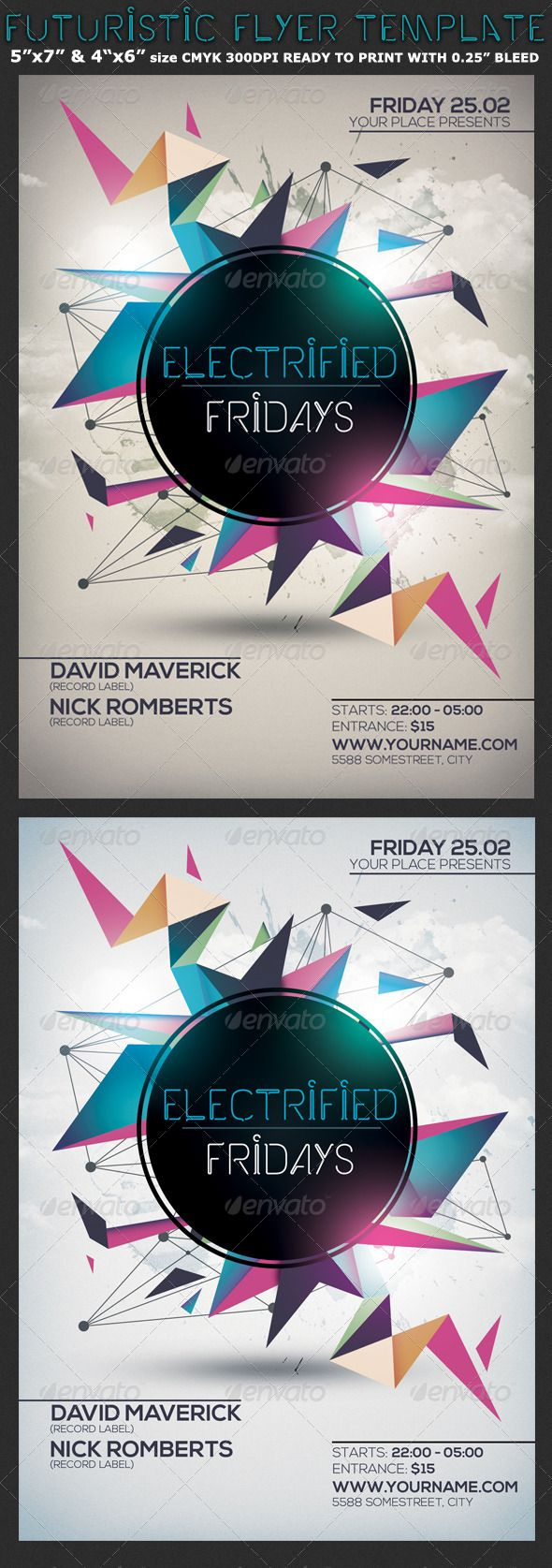 Minimalism Colourful Party Flyer Template — Photoshop PSD #minimal ...