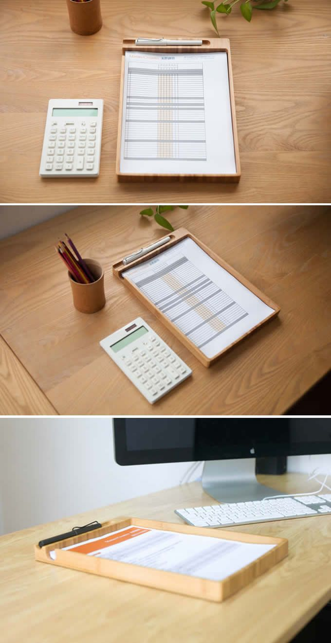 Bamboo A4 Print Papers Doent Holder