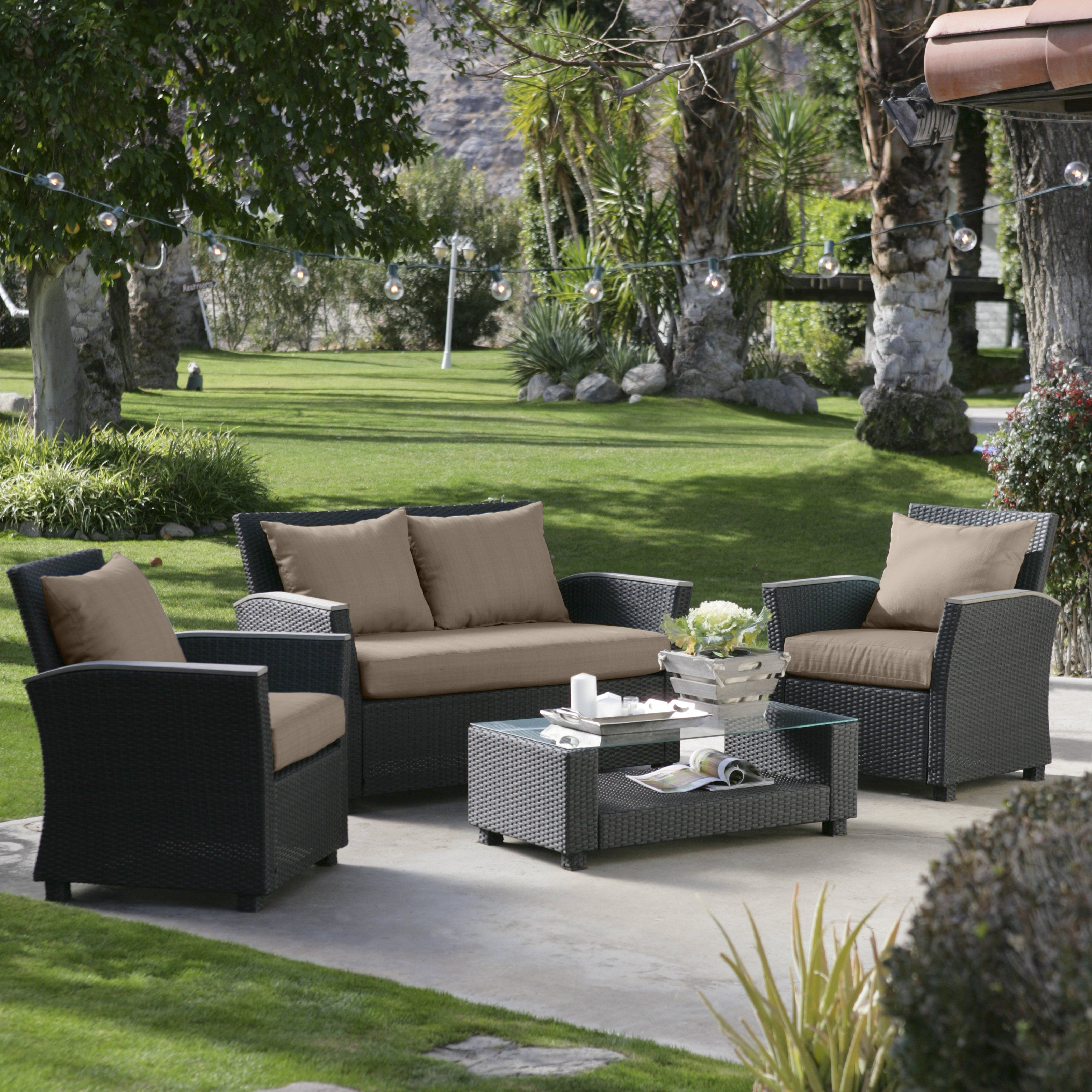 Home garden furniture  Have to have it Coral Coast Delphi All Weather Chocolate Wicker