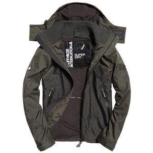 Superdry Arctic Hooded Cliff Hiker Hybrid Jacket | Green